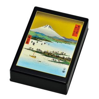 山中漆器 葉書入れ 三保の松原と富士山