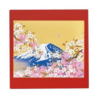 山中漆器 マウスパッド 富士桜(R)