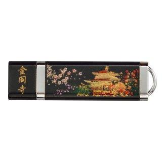 山中漆器 USBメモリー4GB 金閣寺