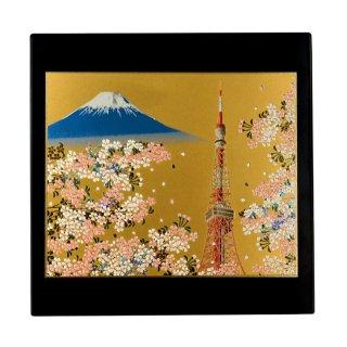 山中漆器 マウスパッド 東京タワー(B) 飾り立て付き