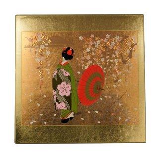 山中漆器 マウスパッド 京桜(G) 飾り立て付き