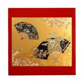 山中漆器 マウスパッド 京雅(R) 飾り立て付き