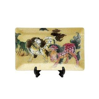 七宝焼き 飾皿 58唐獅子図