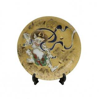 七宝焼き 飾皿 7丸雷神