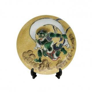七宝焼き 飾皿 7丸風神