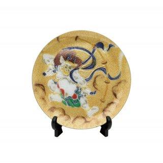 七宝焼き 飾皿 13.5丸雷神