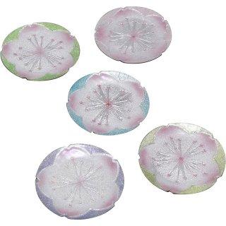 七宝焼き 銘々皿 3丸 桜