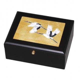 七宝焼き 小物入れ アクセサリーBOX(小)金鶴