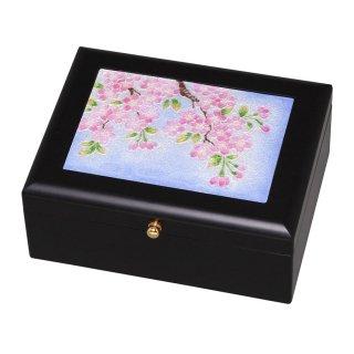七宝焼き 小物入れ アクセサリーBOX(小)桜