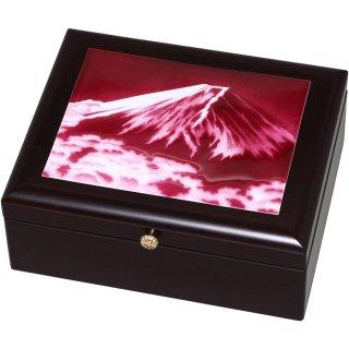 七宝焼き 小物入れ アクセサリーBOX(大)赤富士