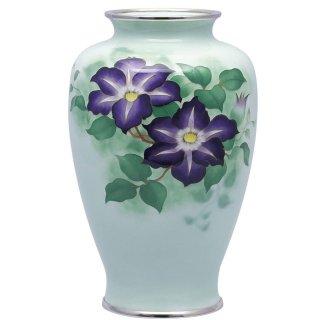 七宝焼き 花瓶 80号中太鉄線