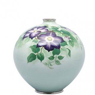 七宝焼き 花瓶 70号玉型変形鉄線