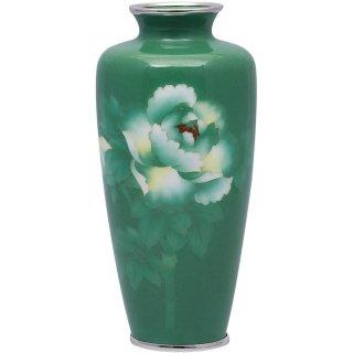 七宝焼き 花瓶 80号細緑牡丹