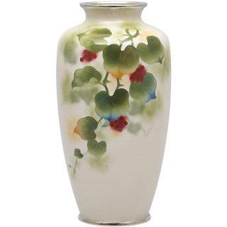 七宝焼き 花瓶 80号並山き来