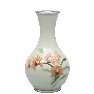 七宝焼き 花瓶 70号首長シンビジュウム