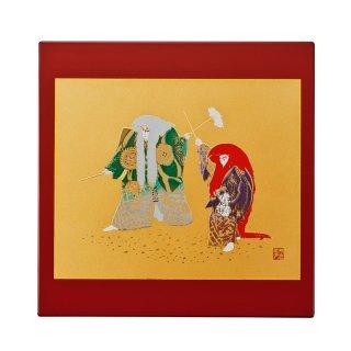 山中漆器 マウスパッド 連獅子(R)