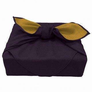 風呂敷 リバーシブル 濃紫×ゴールド