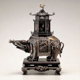 高岡銅器 象塔香炉