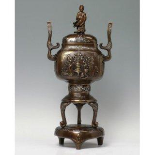高岡銅器 十六羅漢香炉