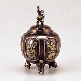 高岡銅器 七福神六面間取香炉