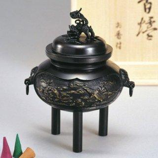 高岡銅器 カン付雲鶴香炉(お香付き)