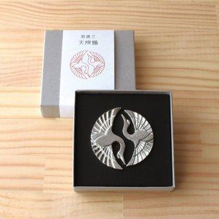 高岡銅器 錫箸置き 夫婦鶴