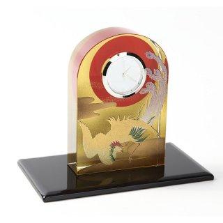 紀州蒔絵 クリスタル時計 鳳凰