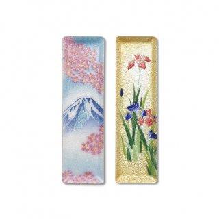 七宝焼き ペン皿(ミニ) 富士桜、菖蒲