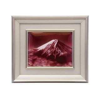 七宝焼き 額 2号赤富士