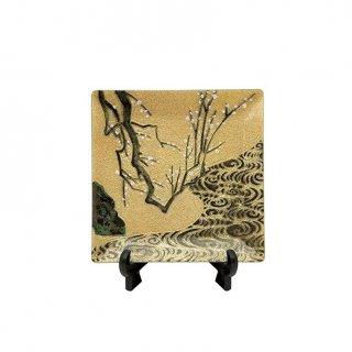 七宝焼き 飾皿 44白梅