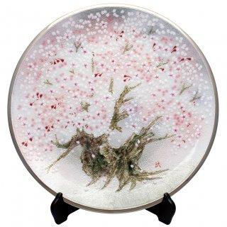 七宝焼き 飾皿 15丸桜