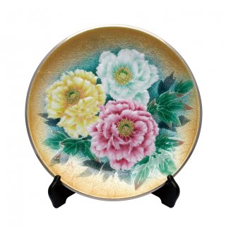 七宝焼き 飾皿 12丸牡丹