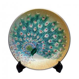 七宝焼き 飾皿 12丸孔雀