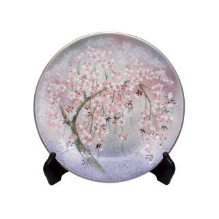 七宝焼き 飾皿 10丸しだれ桜