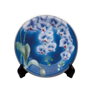 七宝焼き 飾皿 10丸胡蝶蘭