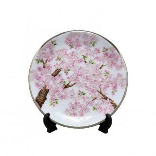 七宝焼き 飾皿 9丸新桜