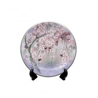 七宝焼き 飾皿 8丸しだれ桜