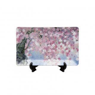 七宝焼き 飾皿 58しだれ桜