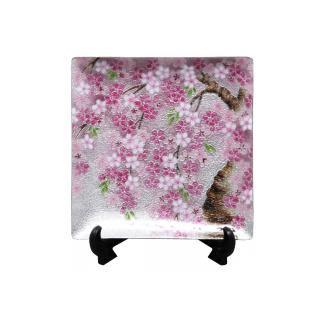 七宝焼き 飾皿 66しだれ桜