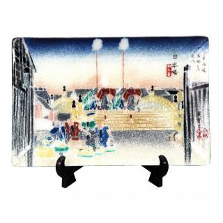 七宝焼き 飾皿 46日本橋