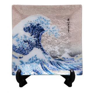 七宝焼き 飾皿 55沖浪