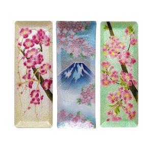 七宝焼き ペン皿(大) 新梅、新富士桜、桜