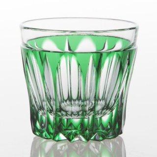 江戸切子 緑被万華様切立盃(みどりぎせまんげようきったてはい)