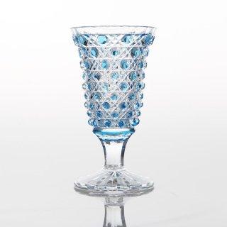 江戸切子 薄瑠璃被籠目文リキュール杯 (うするりぎせかごめもんりきゅーるはい)