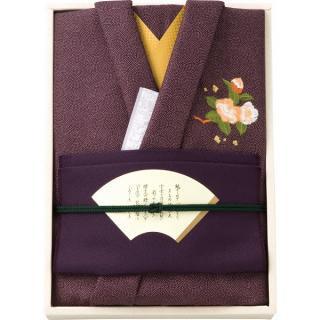彩美きもの姿(紫)風呂敷・金封ふくさセット P18-2061