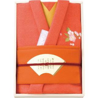 彩美きもの姿(朱)風呂敷・金封ふくさセット P18-2062