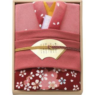 彩美きもの姿(ピンク)風呂敷・小風呂敷セット P18-3017