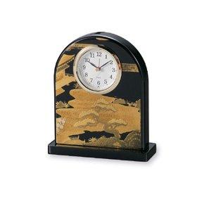 会津漆器 初音 黒 漆芸時計