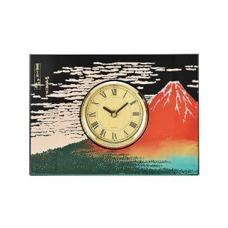 山中漆器 パネル時計 赤富士(B)