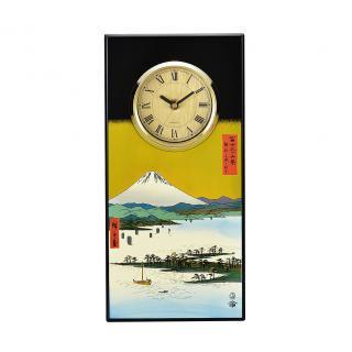 山中漆器 漆芸時計 美保の松原と富士山